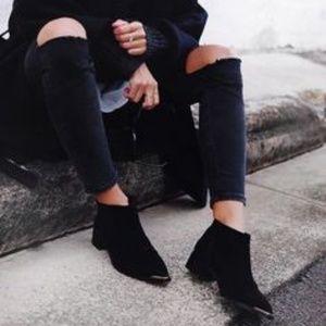Newish SENSO Leon II Black Suede Ankle Boots 36/6